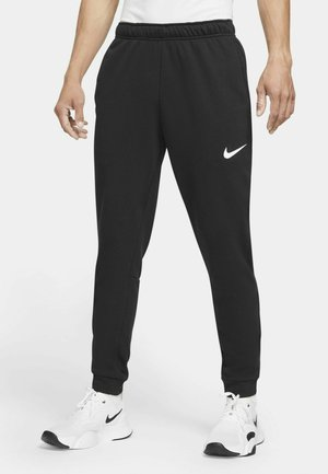 PANT TAPER - Trainingsbroek - black/white