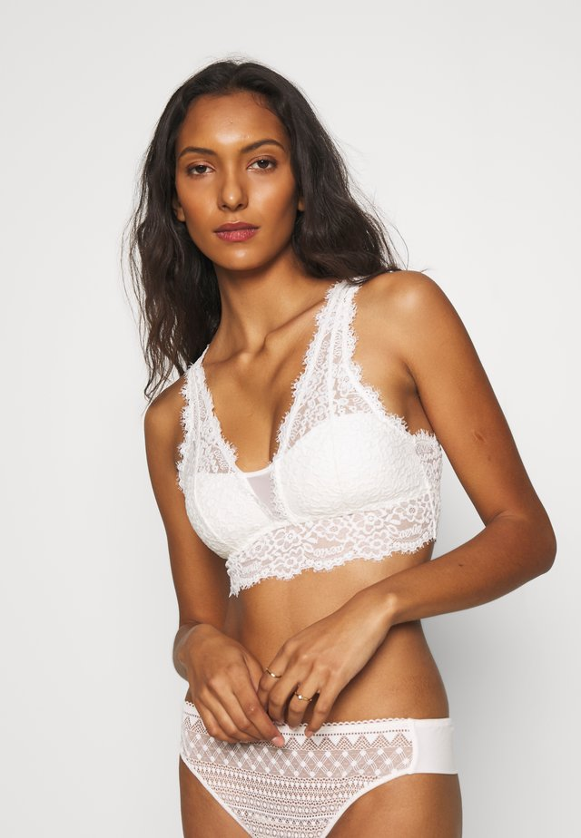 ROMANTIC PLUNGE BRALETTE - Bustier - off-white
