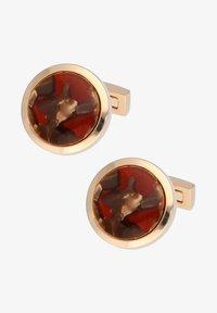 DAVIDOFF - VENICE - Cufflinks - rose gold coloured/bordeaux - 0