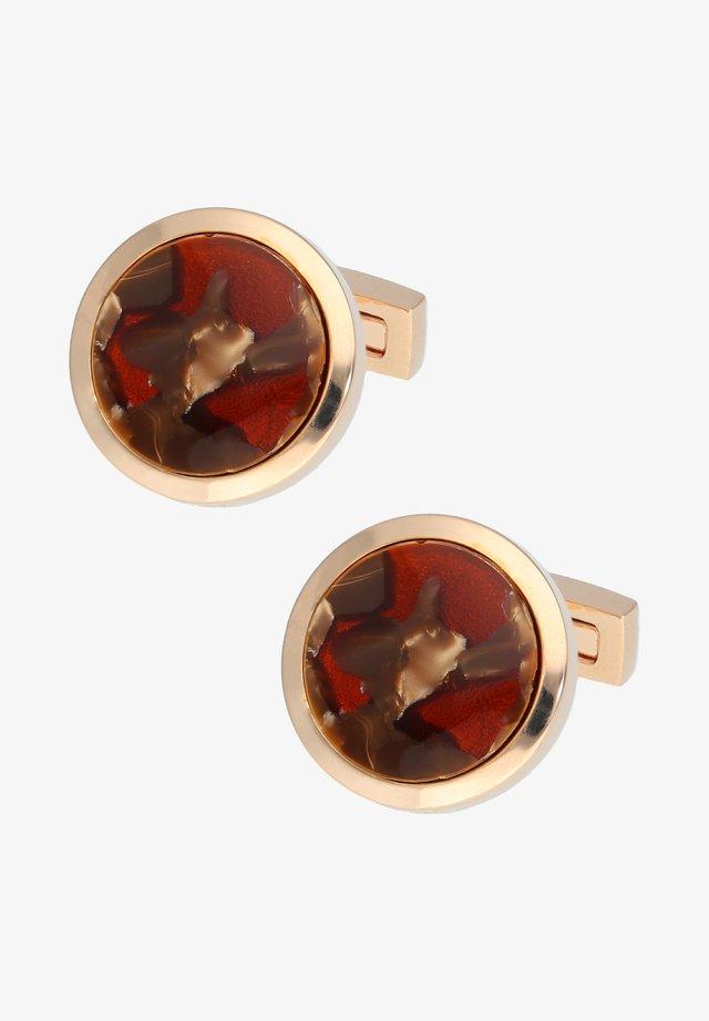 VENICE - Cufflinks - rose gold coloured/bordeaux
