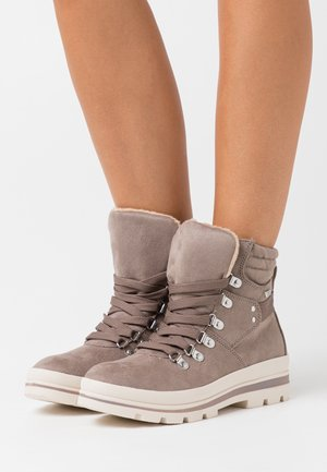 Lace-up ankle boots - mud