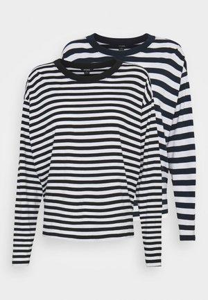 MAJA - Long sleeved top - light blue/white/black dark