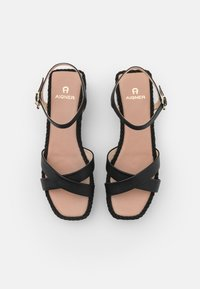 AIGNER - GRAZIELLA  - Platform sandals - black - 4
