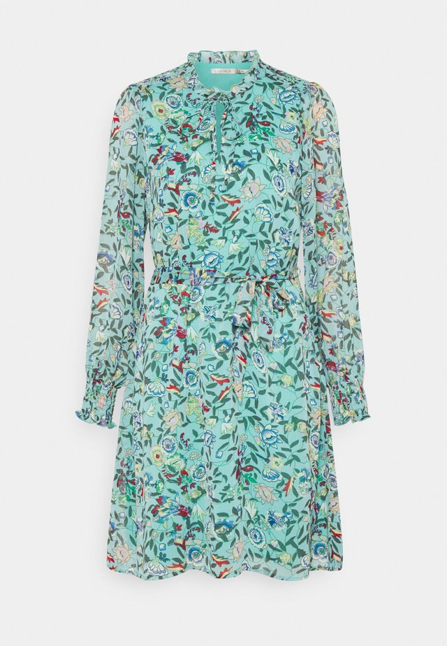 DRESS FLOWER GARDEN PRINT - Korte jurk - green