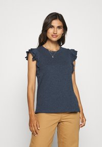 GAP - RUFFLE - T-shirt con stampa - navy heather - 0