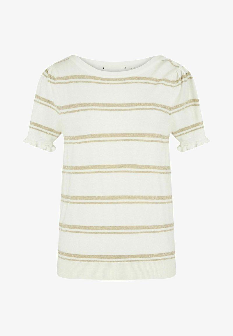 NAF NAF - Print T-shirt - ecru