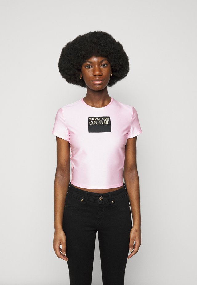 LADY - T-shirt print - pink confetti