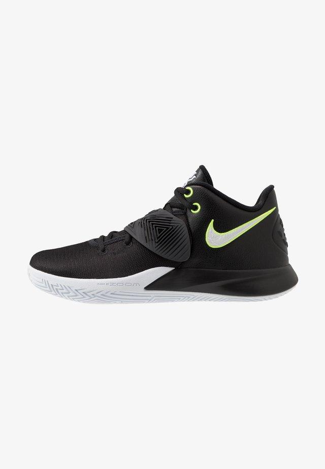 KYRIE FLYTRAP III - Basketball shoes - black/white/volt