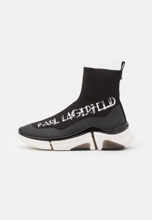 VENTURE ART DECO SOCK BOOT - High-top trainers - black