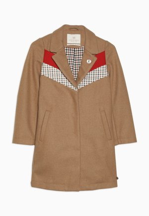 TAILORED JACKET IN BONDED QUALITY WITH COLOUR - Kappa / rock - camel