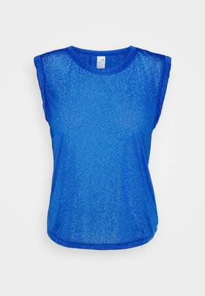 TISSUE ROLL SLEEVE TANK - Basic T-shirt - admiral blue