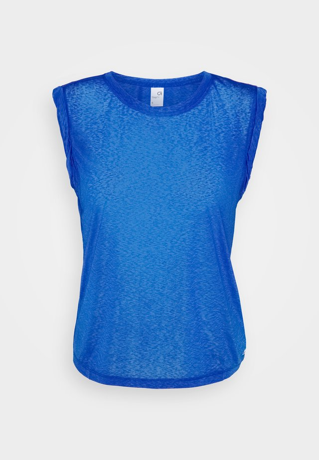 TISSUE ROLL SLEEVE TANK - T-shirt basic - admiral blue