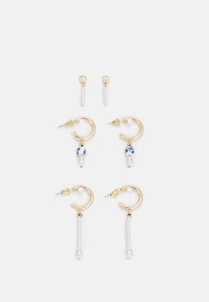 FRESIA STATEMENT EARRING 3 PACK - Örhänge - gold-coloured