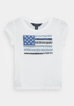 FLAG TEE - Camiseta estampada - deckwash white