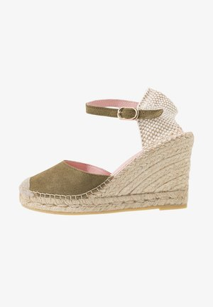 ANGIE - High heeled sandals - green