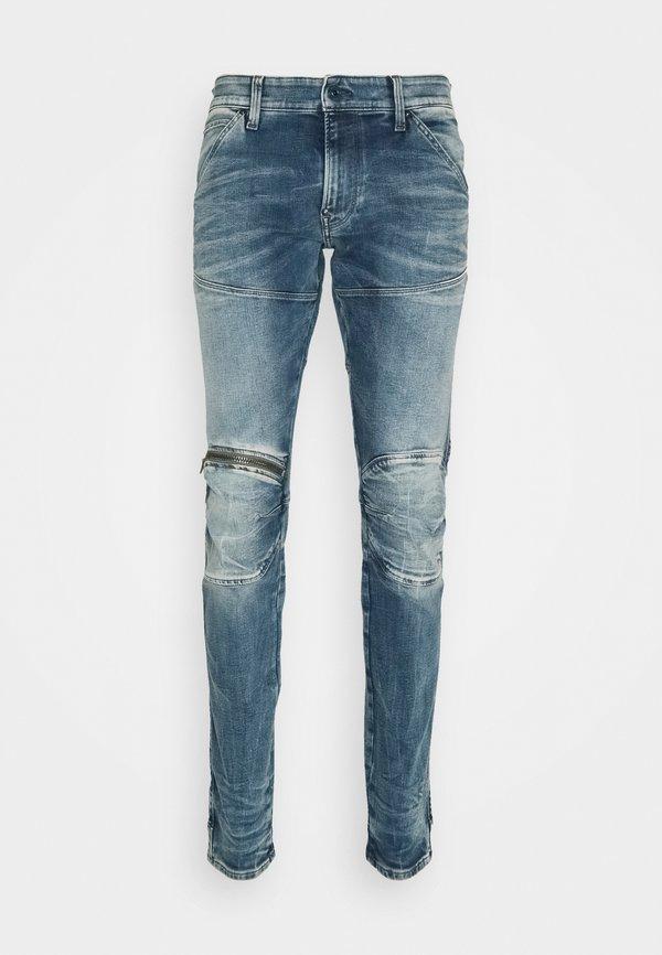G-Star 3D ZIP KNEE SKINNY - Jeansy Skinny Fit - light blue denim/jasnoniebieski Odzież Męska VTYN