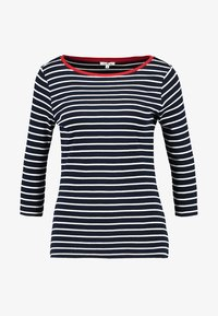 TOM TAILOR - STRIPE - Long sleeved top - navy - 4