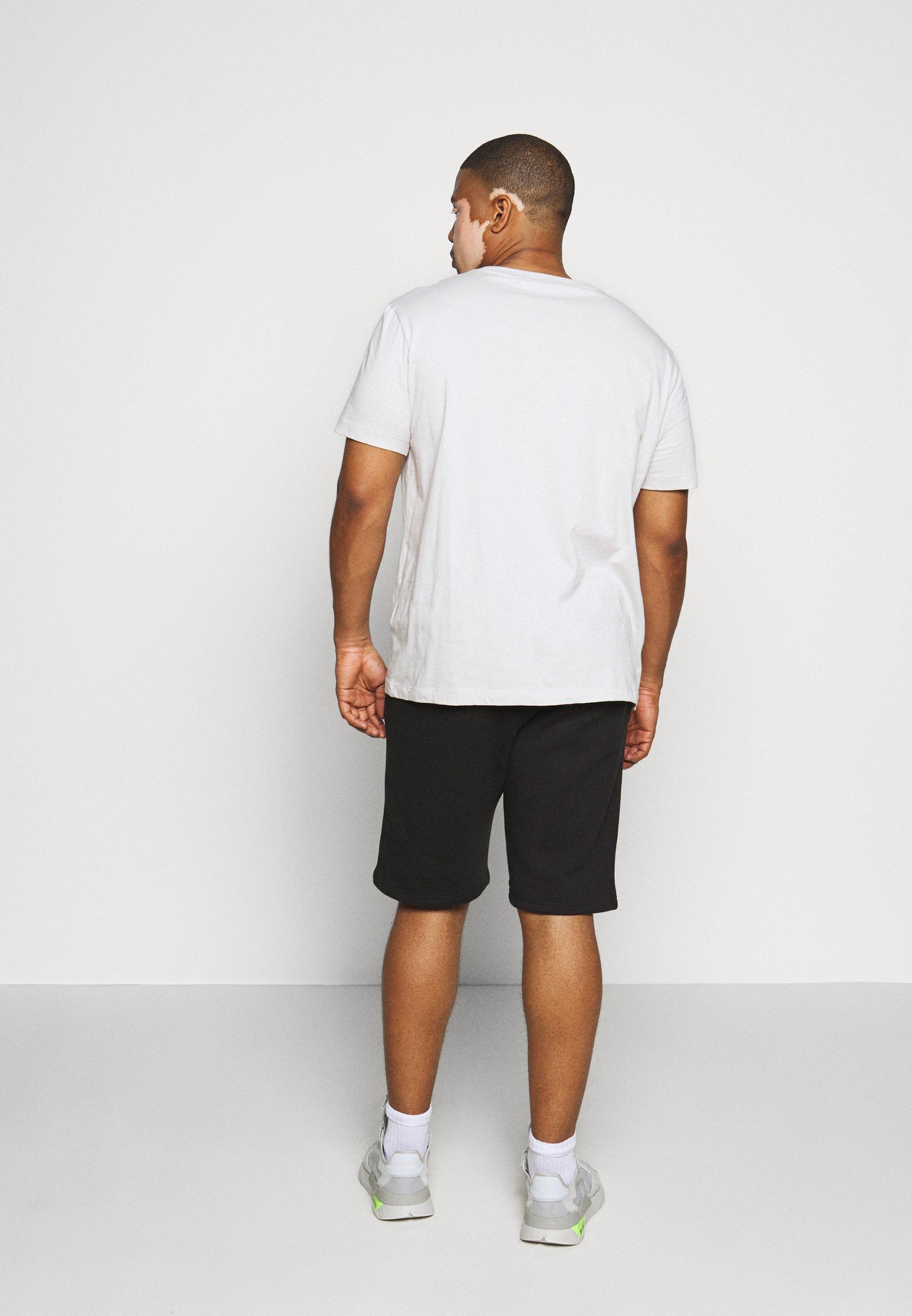 Pier One 2 Pack - Shorts Black/mottled Light Grey