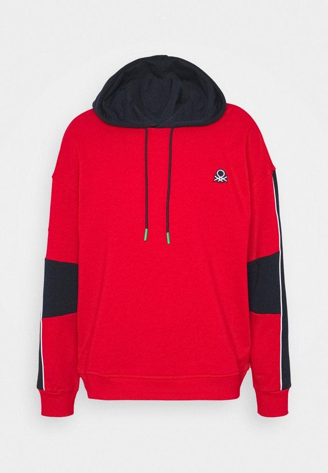 HOODIE CREW NECK BLOCK  - Sweatshirt - red