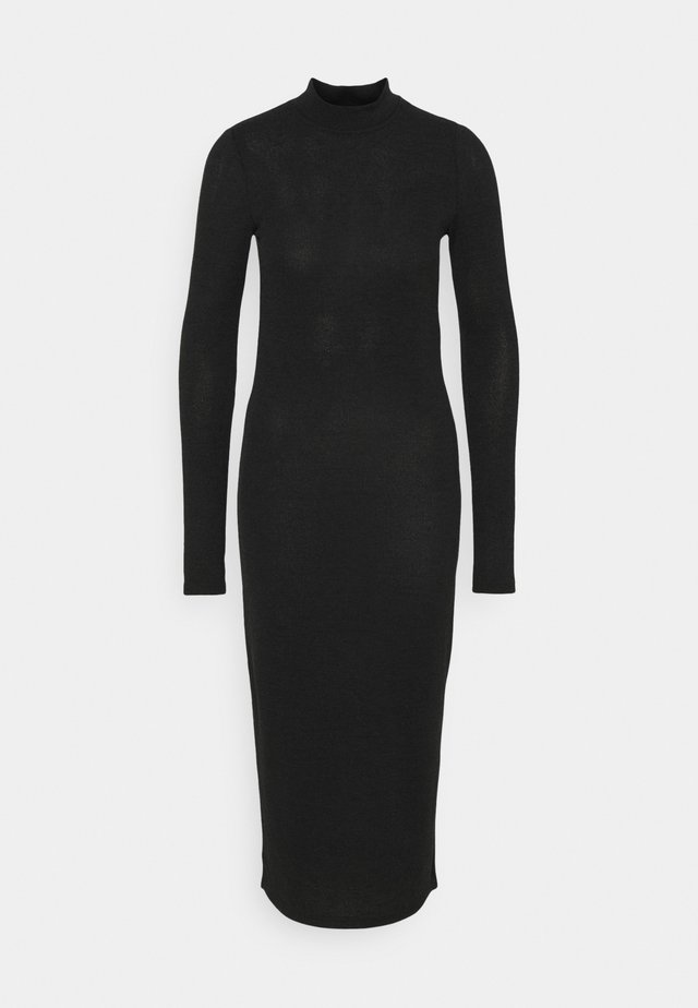 NMCRISTINA HIGH NECK  - Vestido de tubo - black