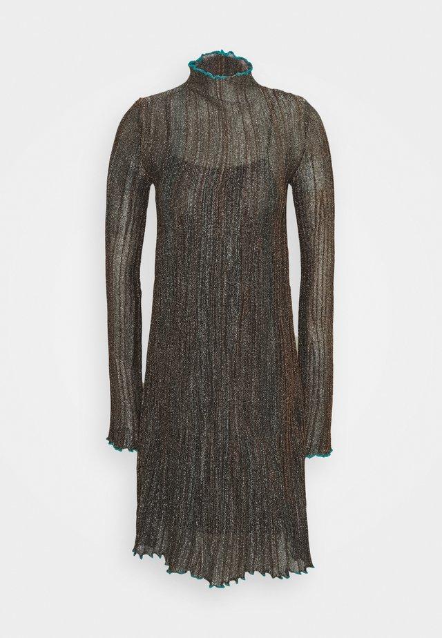 DRESS - Vestito estivo - black/bronze