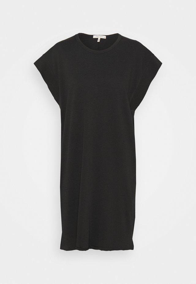 RYDER MUSCLE MINI DRESS WHITE LABEL - Žerzejové šaty - black