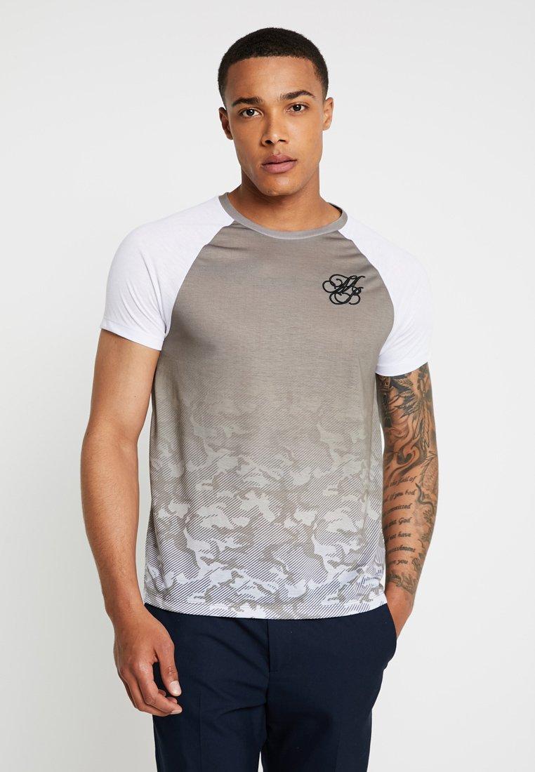 Burton Menswear London - ICONIC TAPED RAGLAN - Triko spotiskem - khaki