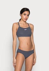 Speedo - ENDURANCE PRINTED THINSTRAP SET - Bikini - true navy/white - 1