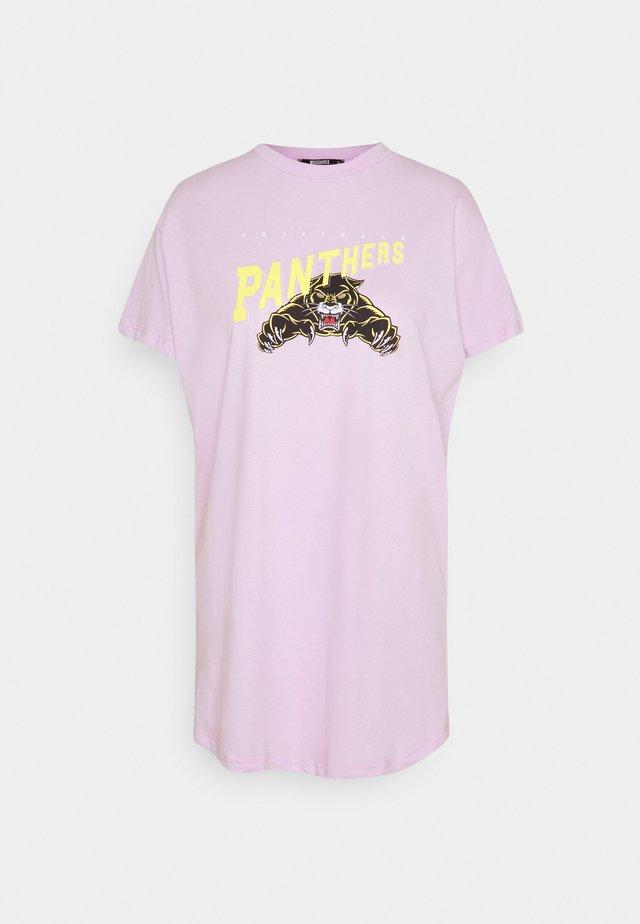 PATHERS GRAPHIC DRESS - Vestito di maglina - lilac