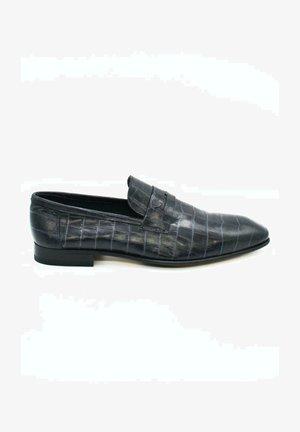 HAND MADE GENUINE - Slip-ons - crocodile black