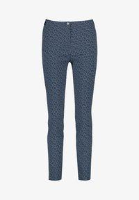 Gerry Weber - Pantalon classique - dark navy/off white/vivid blue - 3