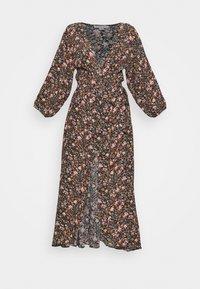 American Eagle - RAGLAN KIMONO - Maxi šaty - black - 0