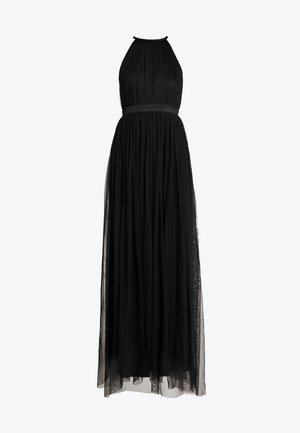 DELICATE HALTER NECK WAISTBAND DRESS - Ballkjole - black
