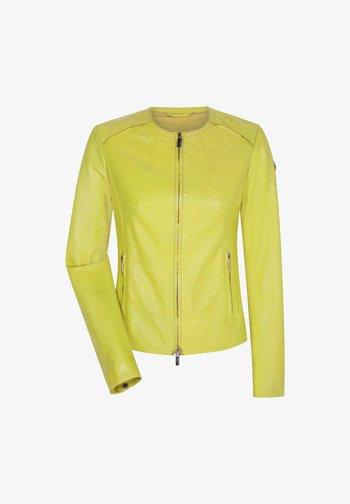 MARISSA - Leather jacket - gelb