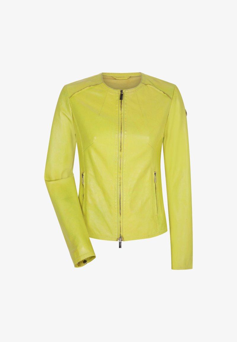 Milestone - MARISSA - Leather jacket - gelb