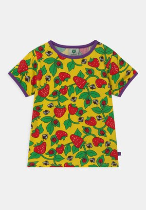 STRAWBERRY - T-shirt print - yellow