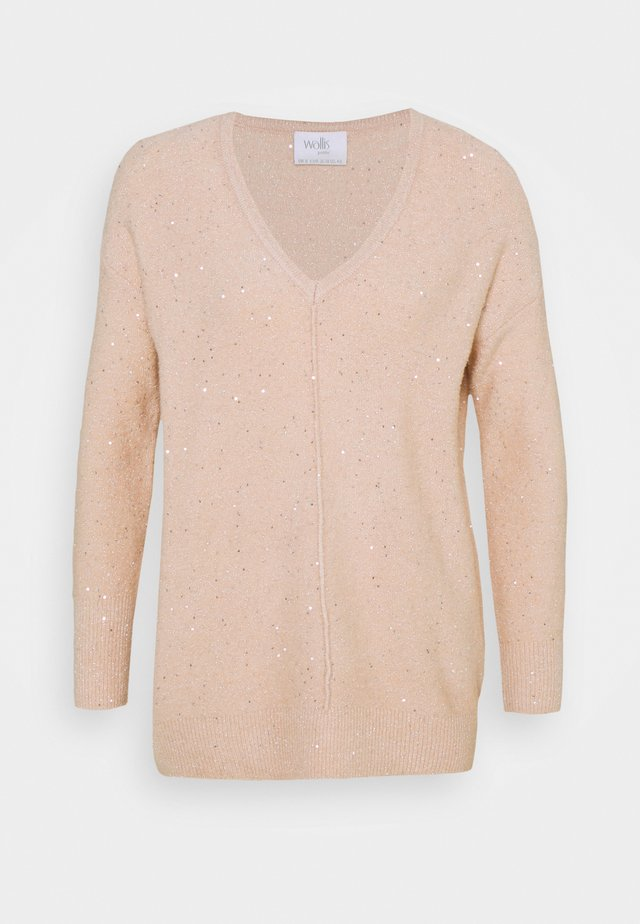 V NECK JUMPER - Strickpullover - blush