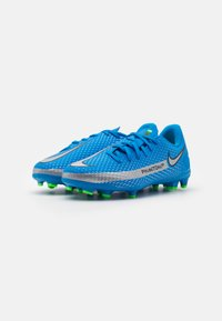 Nike Performance - JR PHANTOM GT ACADEMY MG UNISEX - Moulded stud football boots - photo blue/metallic silver/rage green - 1