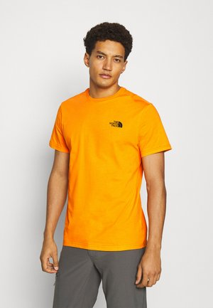 MENS SIMPLE DOME TEE - Triko s potiskem - orange/black