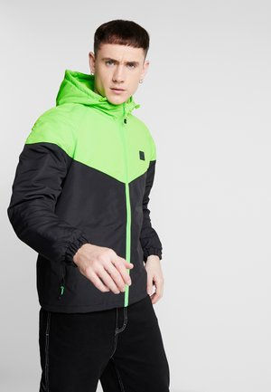 Light jacket - black/neongreen