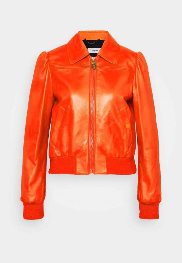 Leren jas - orange