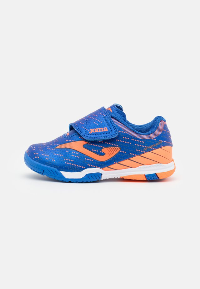 XPANDER JUNIOR UNISEX - Zaalvoetbalschoenen - royal/orange