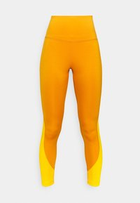 RIBBED HIGH WAISTED WORKOUT READY SPEEDWICK REECYCLED - Leggings - radiant ochre