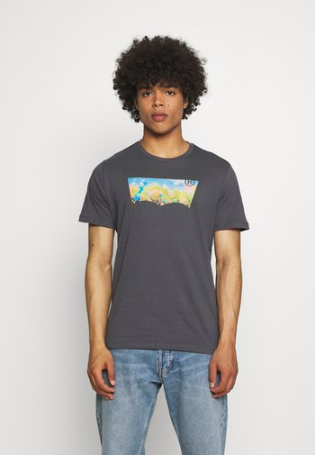 HOUSEMARK GRAPHIC TEE UNISEX - T-shirt con stampa - washed black