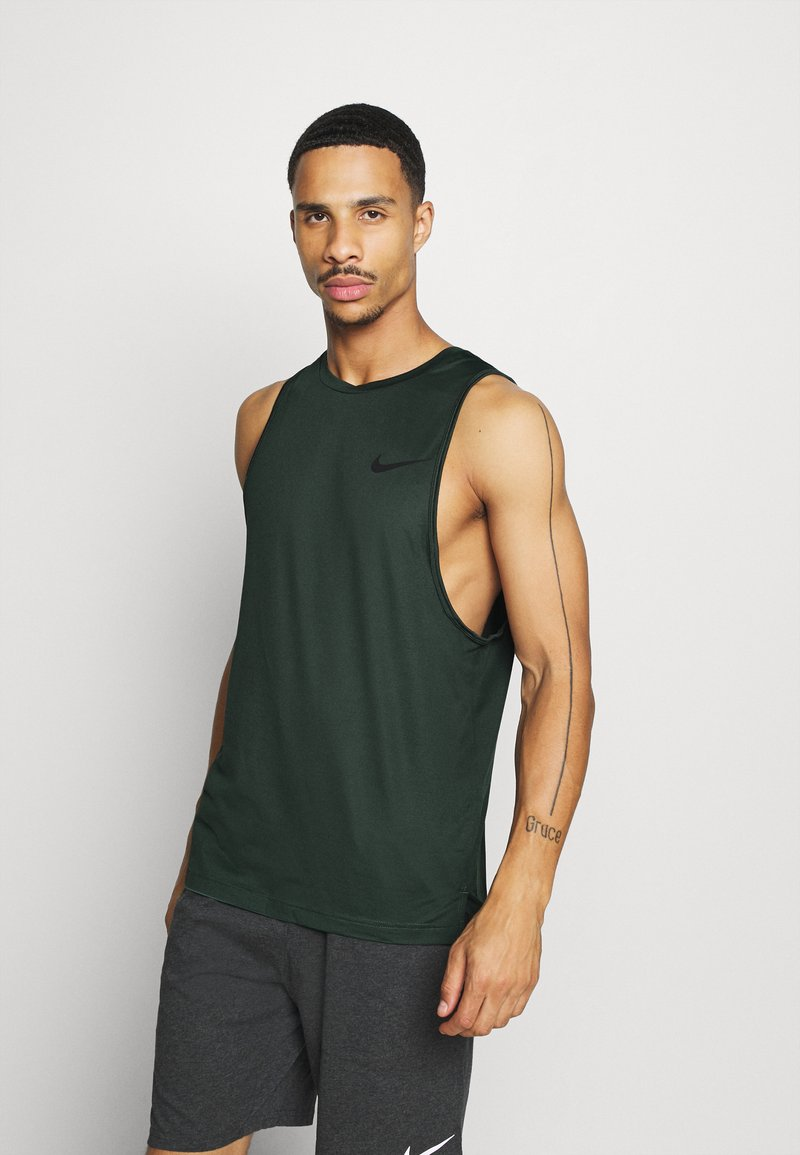 Nike Performance - TANK DRY - Camiseta de deporte - sequoia/galactic jade/heather/black