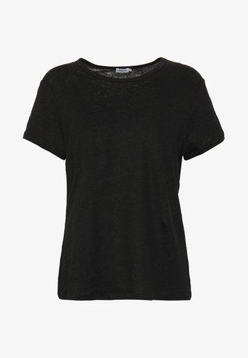 HAZEL TEE - Jednoduché triko - black