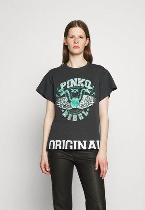 LETTERATURA - T-shirt z nadrukiem - black