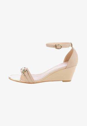 OLMO - Wedge sandals - beige