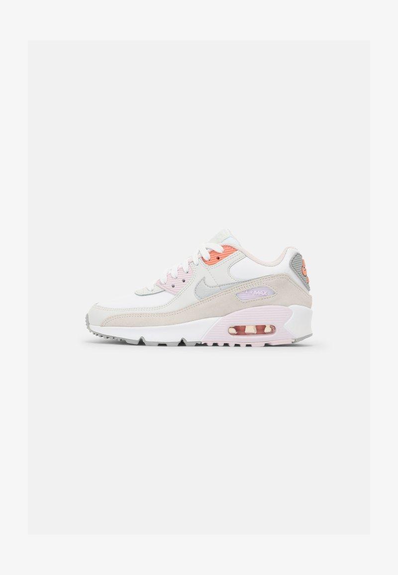 Nike Sportswear - AIR MAX 90 LTR GS UNISEX - Sneakersy niskie - white/platinum tint/light violet