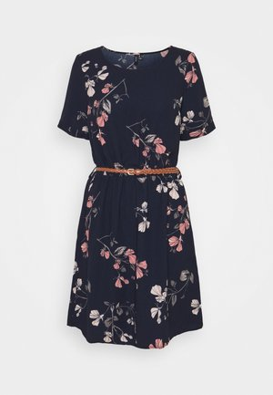 VMANNIE BELT SHORT DRESS - Denní šaty - night sky/hallie